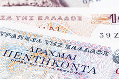 Greek Drachma Royalty Free Stock Photography