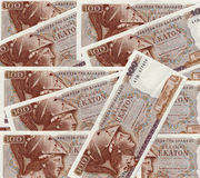 Greek drachmas. (legal tender before the introduction of the EURO in 2002 Royalty Free Stock Photo