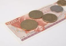 Greek drachmas Royalty Free Stock Photos