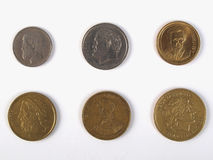 Greek drachmas. Coins withdrawn in 2002 Stock Photography