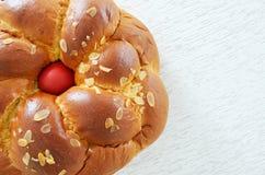 Greek Easter bread, tsoureki Stock Photo