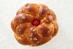 Greek Easter bread, tsoureki Royalty Free Stock Photo