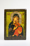 Greek byzantine Eleousa Icon Stock Images