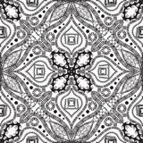 Greek ethnic style black and white vector seamless pattern. Geometric abstract ornamental background. Decorative hand drawn creative ornament with greek key Stock Photography