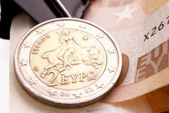 Greek Euro Coin Royalty Free Stock Photo