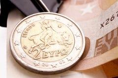 Greek Euro Coin Royalty Free Stock Photo