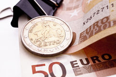 Greek Euro Coin Royalty Free Stock Photography