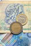 Greek euro coins Royalty Free Stock Photo