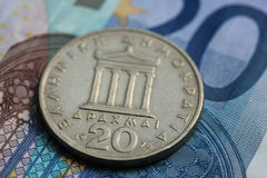 Greek euro crisis Stock Image