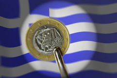 Greek euro dilemma Royalty Free Stock Photography