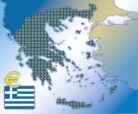 Greek euro map Stock Image
