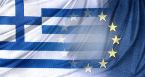 Greek and Europe flags Stock Photography