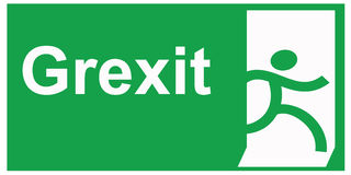 Greek exit Stock Photography
