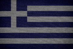 Greek fabric flags Stock Photography