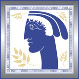 Greek face. A nice designed greek vector illustration