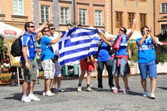 Greek fans Royalty Free Stock Photos