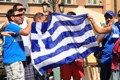 Greek fans Stock Photos