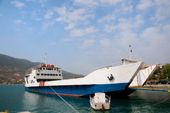 Greek ferry boat Stock Photo