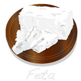 Greek feta cheese block isolated Stock Photography