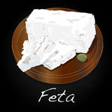 Greek feta cheese block isolated Royalty Free Stock Photography