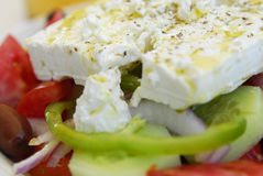 Greek feta cheese salad Stock Photo