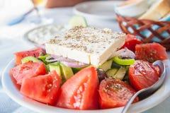 Greek feta salad stock photo