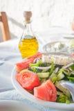 Greek feta salad Stock Image