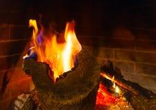 Greek fireplace Stock Photos
