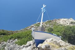 Greek fishboat Royalty Free Stock Photo