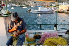 Greek fisherman Stock Photos