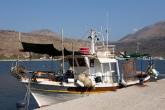 Greek fishing boat Royalty Free Stock Photos