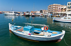 Greek fishing boat. Royalty Free Stock Images