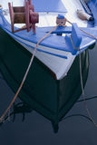 Greek fishing boat. Bow of typical colorful greek fishing boat Royalty Free Stock Photos