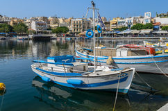 Greek fishing boat Royalty Free Stock Images