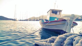 Greek fishing boat Royalty Free Stock Photography