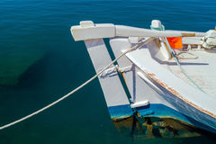Greek fishing boat at Cyclades islands Stock Photography