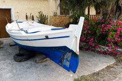 Greek Fishing Boat, Maintenance Royalty Free Stock Photography
