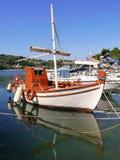Greek fishing boat Royalty Free Stock Images