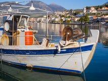Greek Fishing Boat Stock Photo