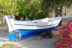 Greek Fishing Boat, Spring Maintenance Stock Images