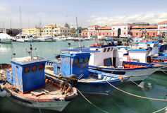 Greek Fishing Boats, Catania, Sicily royalty free stock photos