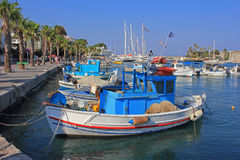 Greek Fishing Boats Stock Photo