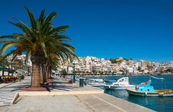 Greek Fishing Boats In Sitia. Royalty Free Stock Images