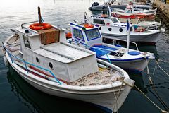 Greek Fishing Boats, Thassos, Greece Stock Photos