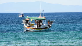 Greek Fishing Boats stock video