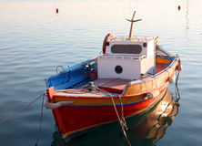 Greek fishing dinghy Royalty Free Stock Images