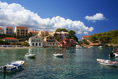 Greek fishing village Royalty Free Stock Photos