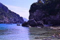 Greek fjords Royalty Free Stock Photos