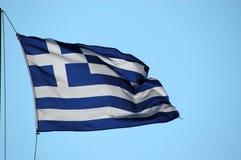 Greek flag. Flag of greece Royalty Free Stock Photos