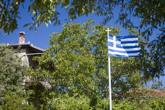 Greek flag Stock Photography